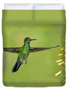 Green-crowned Brilliant Duvet Cover