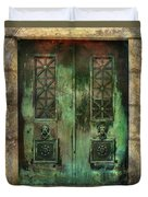Green Doors Duvet Cover