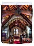 Greensted Church Ongar Duvet Cover