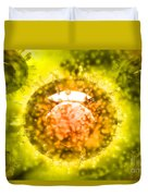 Group Of H5n1 Virus With Glassy View Duvet Cover