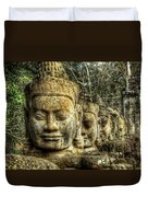 Guardians Of Angkor Thom Duvet Cover