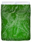 Guatemala Street Map - Guatemala City Guatemala Road Map Art On  Duvet Cover