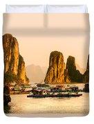 Halong Bay - Vietnam Duvet Cover