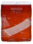 Hammock Patent Drawing From 1895 Duvet Cover