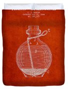 Hand Grenade Patent Drawing From 1884 Duvet Cover