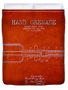 Hand Grenade Patent Drawing From 1916 Duvet Cover