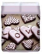 Heart Cookies Duvet Cover