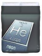 Helium Chemical Element Duvet Cover
