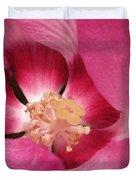 Hibiscus Moscheutos Named Luna Pink Swirl Duvet Cover