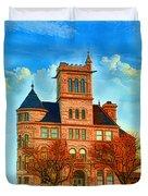 Historic City Hall Springfield  Mo Duvet Cover