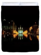 Historic Temple And Square In Salt Lake Duvet Cover