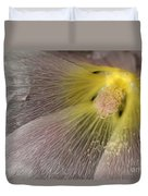 Hollyhock Named Indian Spring Pink Duvet Cover