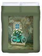 Home For Lunch In Rome Duvet Cover