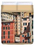 homes in Camogli Duvet Cover