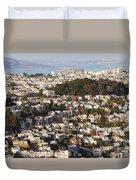 Homes Of San Francisco Duvet Cover