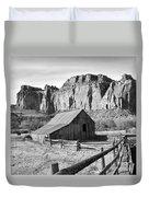 Horse Barn In Fruita Utah Duvet Cover
