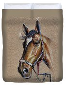 Horse Face - Drawing  Duvet Cover