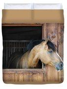 Horse In Stable Duvet Cover