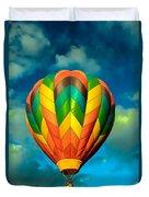Hot Air Balloon Duvet Cover by Robert Bales