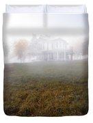 House In Fog Duvet Cover
