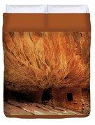 House On Fire Ruin Duvet Cover
