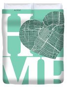 Houston Street Map Home Heart - Houston Texas Road Map In A Hear Duvet Cover
