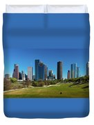 Houston, Texas - High Rise Buildings Duvet Cover