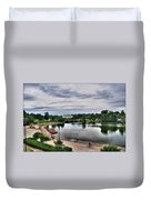 Hoyt Lake Delaware Park 0004 Duvet Cover