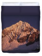 Mt Huandoy Sunrise Peru Duvet Cover