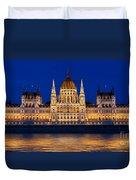 Hungarian Parliament In Budapest Duvet Cover
