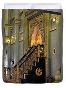 Imam Pulpit Sultan Mosque Singapore Duvet Cover