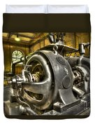 In The Ship-lift Engine Room Duvet Cover by Heiko Koehrer-Wagner