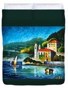 Italy Lake Como Villa Balbianello Duvet Cover
