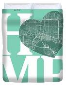 Jacksonville Street Map Home Heart - Jacksonville Florida Road M Duvet Cover