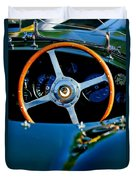 Jaguar Steering Wheel Duvet Cover