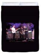 Guitarists Jimmie Vaughan And Duke Robbilard Duvet Cover