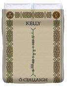 Kelly Written In Ogham Duvet Cover