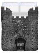 Keys To The Castle - Black And White Duvet Cover