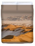Khongor Sand Dunes In Winter Gobi Desert Duvet Cover