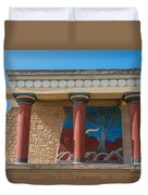 Knossos Palace Duvet Cover by Luis Alvarenga