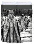 Korean War Memorial Washington Dc Duvet Cover