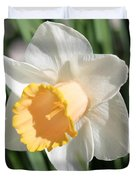 Large-cupped Daffodil Named Mrs. R.o. Backhouse Duvet Cover