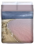 Las Coloradas Salt Flat Duvet Cover