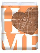Las Vegas Street Map Home Heart - Las Vegas Nevada Road Map In A Duvet Cover