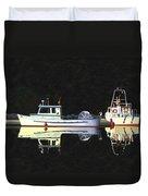 Last Light  Island Moorage Duvet Cover