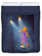 Latina Jazz Diva Duvet Cover