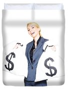 Laughing All The Way To The Bank Duvet Cover