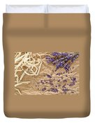 Lavender Flowers And Seeds Duvet Cover