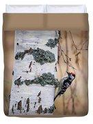 Lesser Spotted Woodpecker Duvet Cover