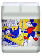 Lichtenstein's Look Mickey Duvet Cover